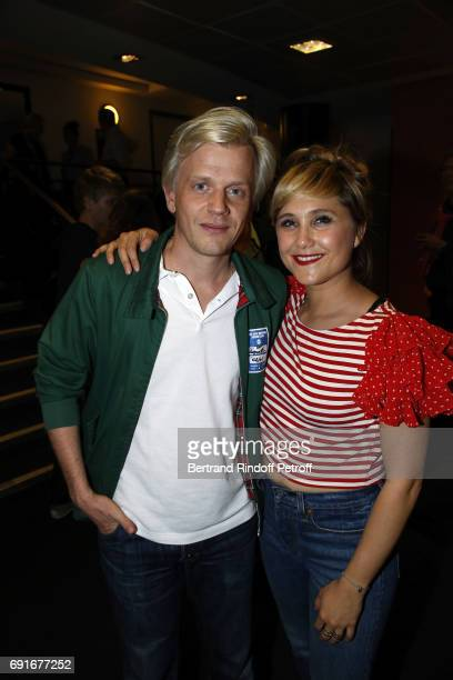 Alex Lutz and Berangere Krief attend 'Les Coquettes' Musical Show at L'Olympia on June 2 2017 in Paris France