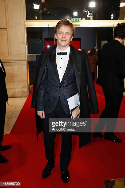 Alex Lutz arrives at the 40th Cesar Film Awards 2015 Cocktail at Theatre du Chatelet on February 20 2015 in Paris France
