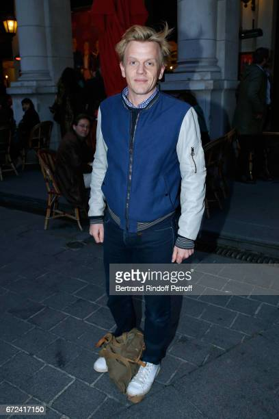 Alex Lutz attends 'La Recompense' Theater Play at Theatre Edouard VII on April 24 2017 in Paris France