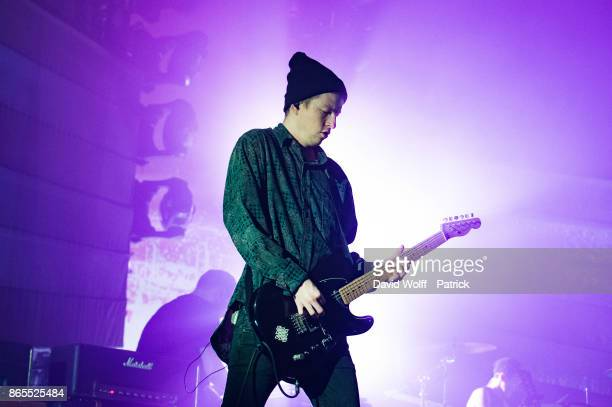 Alex Mackay from Mogwai performs at Le Grand Rex on October 23 2017 in Paris France
