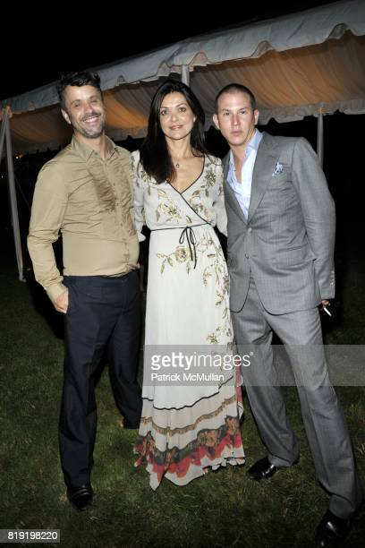 Alex Malgouyres Filipa Fino and Johnathan Jonathan Reed attend QVC Style Initiative Dinner hosted by CEO Mike George at the home of Dennis Basso and...