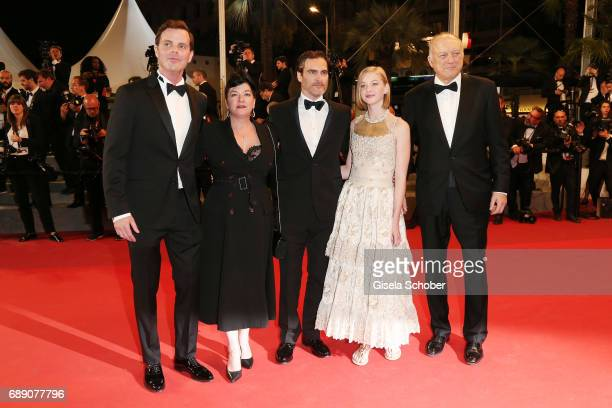 Alex Manette director Lynne Ramsay Joaquin Phoenix Ekaterina Samsonov and John Doman attend the 'You Were Never Really Here' screening during the...
