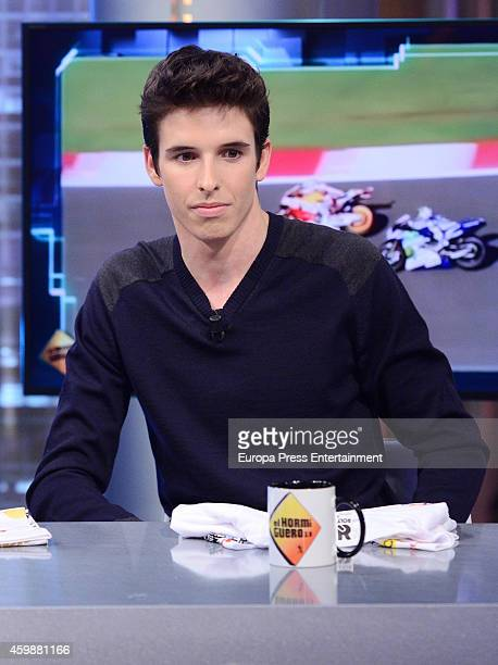 Alex Marquez attends The Hormiguero Tv show on December 2 2014 in Madrid Spain