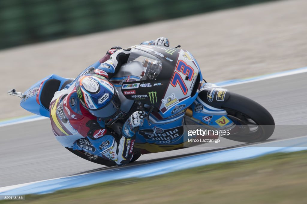 Alex Marquez of Spain and EG 00 Marc VDS rounds the bend during the MotoGP Netherlands - Free Practice on June 23, 2017 in Assen, Netherlands.