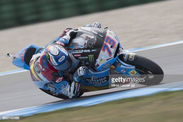 Alex Marquez of Spain and EG 00 Marc VDS rounds the bend during the MotoGP Netherlands Free Practice on June 23 2017 in Assen Netherlands