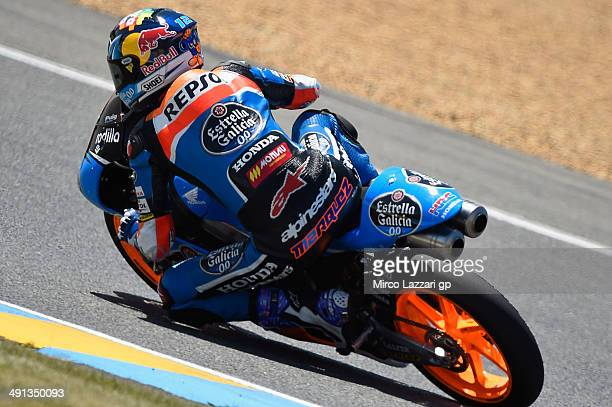 Alex Marquez of Spain and Estrella Galicia 00 rounds the bend during the MotoGp of France Free Practice at on May 16 2014 in Le Mans France