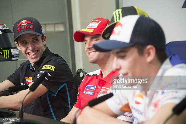 Alex Marquez of Spain and Estrella Galicia 00 smiles during the press conference preevent during the MotoGP Of Malaysia Preview at Sepang Circuit on...