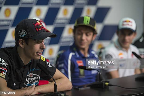 Alex Marquez of Spain and Estrella Galicia 00 speaks during the press conference preevent during the MotoGP Of Malaysia Preview at Sepang Circuit on...