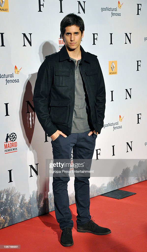 Alex Marruz attends 'Fin' premiere on November 20, 2012 in Madrid, Spain.