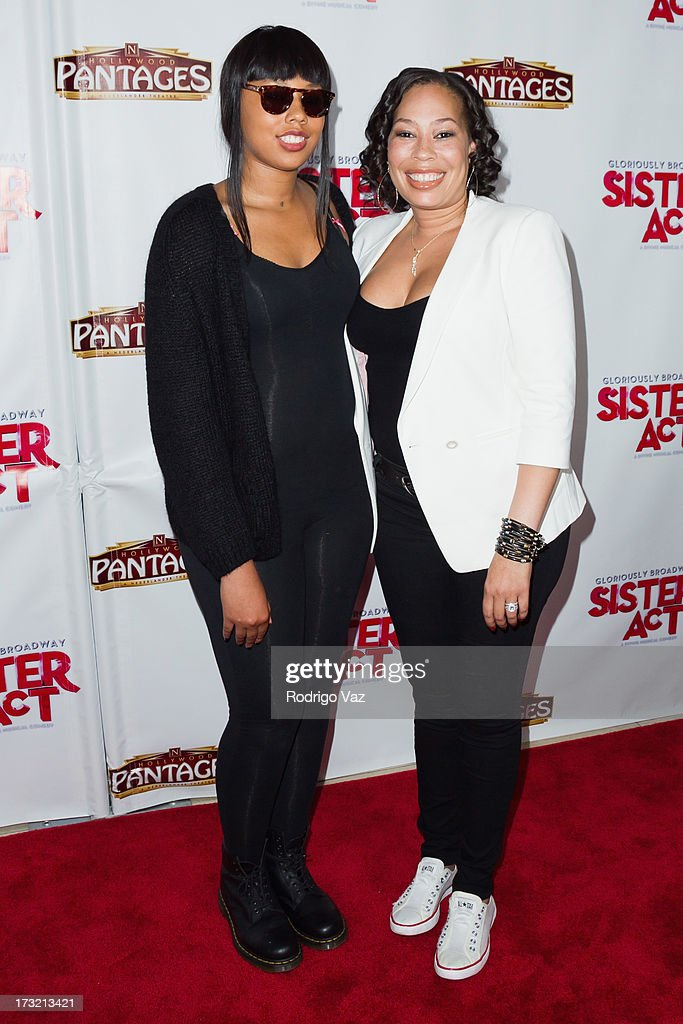 Alex Martin (L) and Jersey Dean attend 'Sister Act' - Los Angeles Show Premiere at the Pantages Theatre on July 9, 2013 in Hollywood, California.
