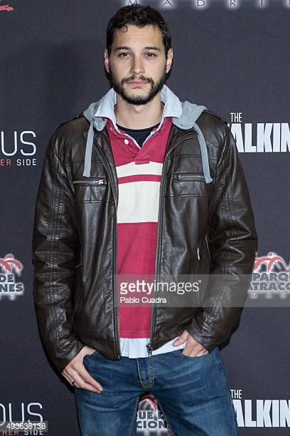 Alex Martinez attends Halloween party at Amusement Park on October 21 2015 in Madrid Spain