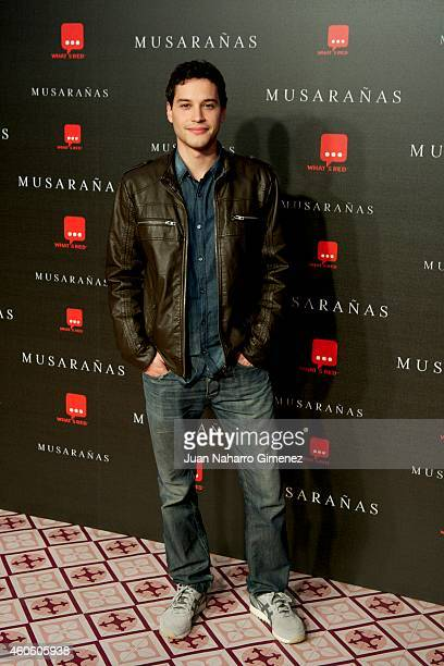 Alex Martinez attends the 'Musaranas' premiere at the Capitol cinema on December 17 2014 in Madrid Spain