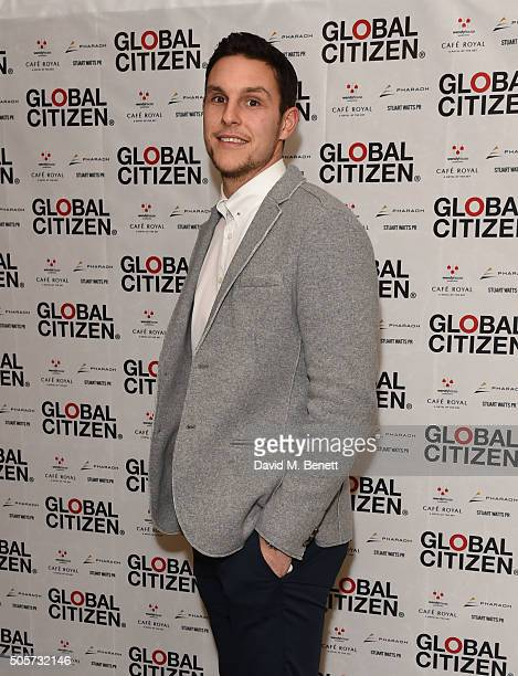 Alex McCarthy attends the Global Citizen 2016 VIP Dinner at Cafe Royal on January 19 2016 in London England