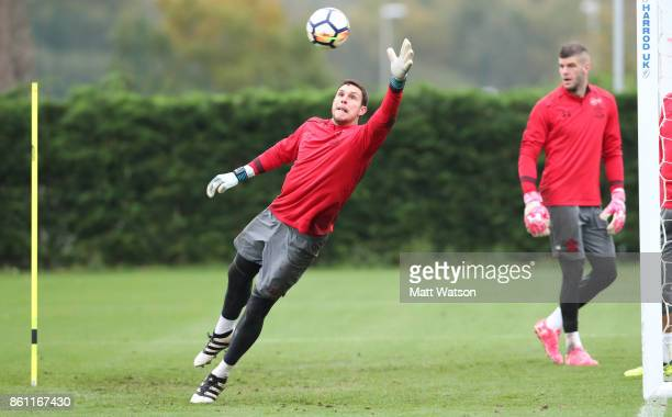Alex McCarthy during a Southampton FC training session at the Staplewood Campus on October 13 2017 in Southampton England