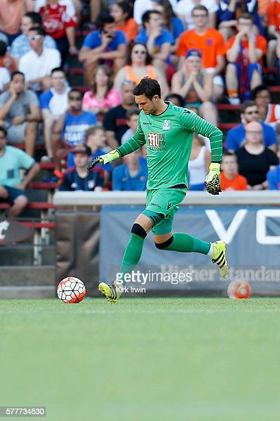 Alex McCarthy of Crystal Palace FC controls the ball during the match against FC Cincinnati at Nippert Stadium on July 16 2016 in Cincinnati Ohio