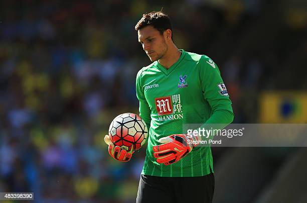 Alex McCarthy of Crystal Palace in action during the Barclays Premier League match between Norwich City and Crystal Palace at Carrow Road on August 8...
