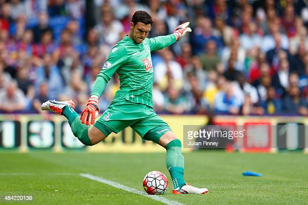 Alex McCarthy of Crystal Palace in action during the Barclays Premier League match between Crystal Palace and Arsenal at Selhurst Park on August 16...