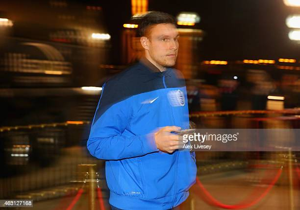 Alex McCarthy of QPR arrives ahead of the Barclays Premier League match between Sunderland and Queens Park Rangers at Stadium of Light on February 10...