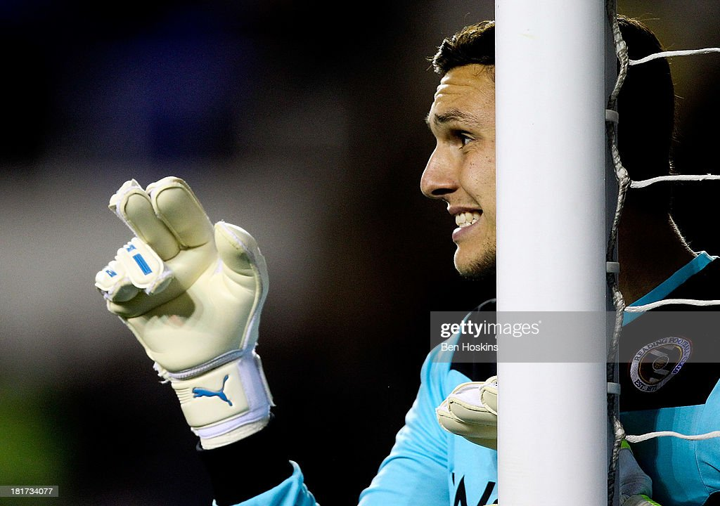 Alex McCarthy of Reading in action during the Sky Bet Championship match between Reading and Leeds United at Madejski Stadium on September 18, 2013 in Reading, England.