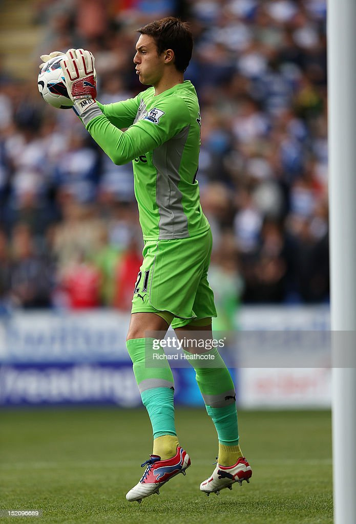 Alex McCarthy of Reading warms up prior to the Barclays Premier League match between Reading and Tottenham Hotspur at Madejski Stadium on September 16, 2012 in Reading, England.