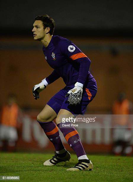 Alex McCarthy of Southampton during the match between Arsenal U23 and Southampton U23 at Meadow Park on October 14 2016 in Borehamwood England