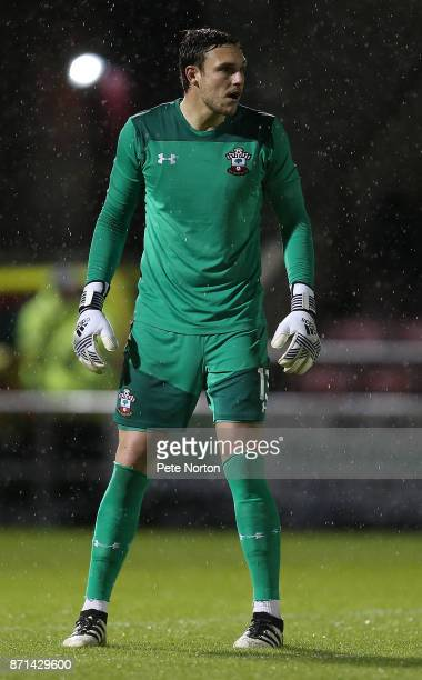 Alex McCarthy of Southampton in action during the Checkatrade Trophy match between Northampton Town and Southampton U23 at Sixfields on November 7...
