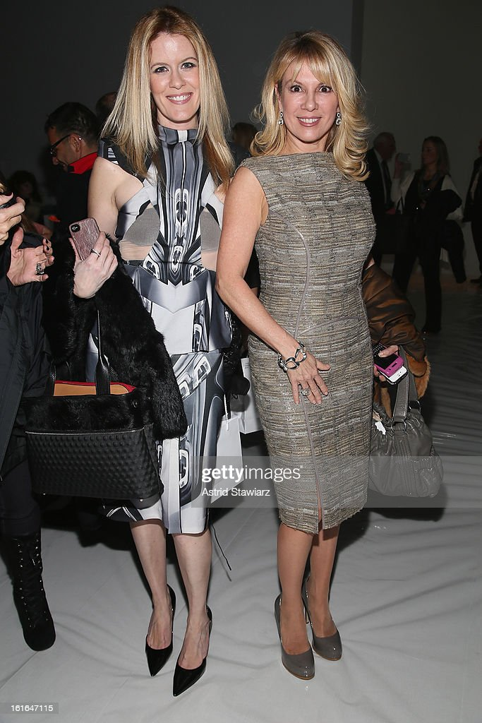 Alex McCord and Ramona Singer attend the Zang Toi Fall 2013 fashion show during Mercedes-Benz Fashion Week at The Stage at Lincoln Center on February 13, 2013 in New York City.