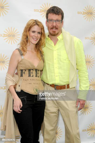 Alex McCord and Simon Van Kempen attend SOLAR 1's Revelry By The River Honors MATTHEW MODINE KICK KENNEDY HSBC at Stuyvesant Cove on June 2 2009 in...