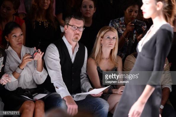 Alex McCord and Simon Van Kempen attend the Farah Angsana Spring 2013 fashion show during MercedesBenz Fashion Week at The Studio at Lincoln Center...