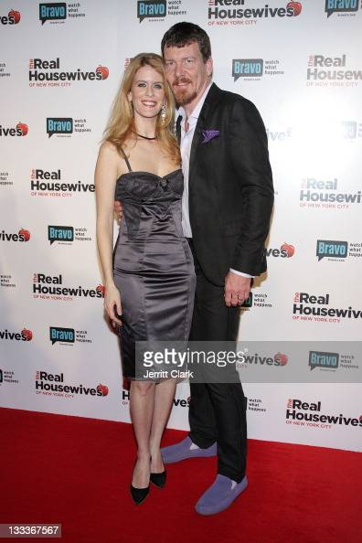 Alex McCord and Simon van Kempen attend 'The Real Housewives of New York City' season 2 premiere party at Gilt at the Palace Hotel on February 11...