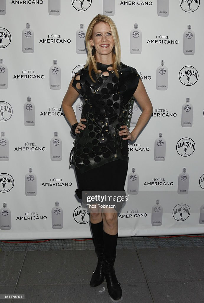 Alex McCord attends Autentico Tequila Alacran Debuts Their Mezcal Alacran at Hotel Americano In NYC on September 7, 2012 in New York City.