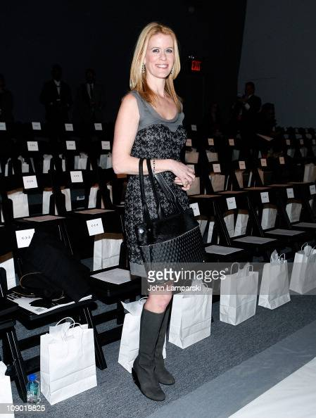 Alex McCord attends the Venexiana Fall 2011 presentation during MercedesBenz Fashion Week at The Studio at Lincoln Center on February 11 2011 in New...