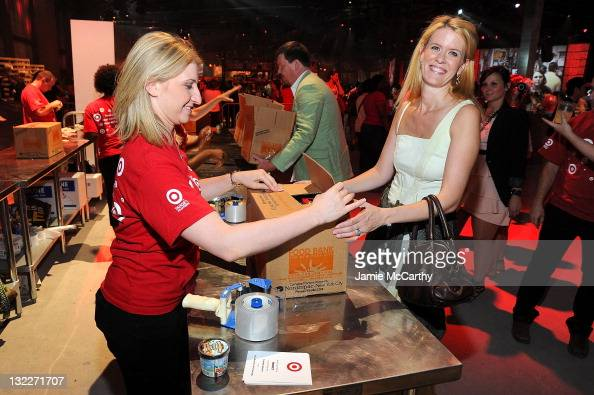 Alex McCord helped assemble 150000 meals at the Target Party for Good Making Meals to Feed Young Minds on June 29 as part of the 2010 National...