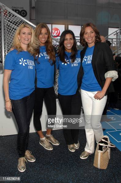 Alex McCord Kelly Bensimon Cindy Barshop and LuAnn de Lesseps attend the Go Healthy StepAThon at Times Square on May 23 2011 in New York City