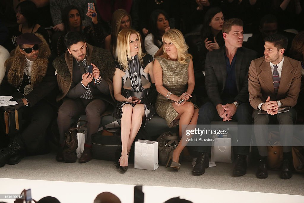 Alex McCord (3rd L), Ramona Singer (3rd R) and Tom Murro (2nd R) attend the Zang Toi Fall 2013 fashion show during Mercedes-Benz Fashion Week at The Stage at Lincoln Center on February 13, 2013 in New York City.