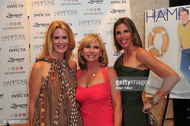Alex McCord Sharon Bush and Jennifer Gilbert attend the Hamptons Magazine cover party hosted by Kyle MacLachlan and Invicta at the Four Seasons...