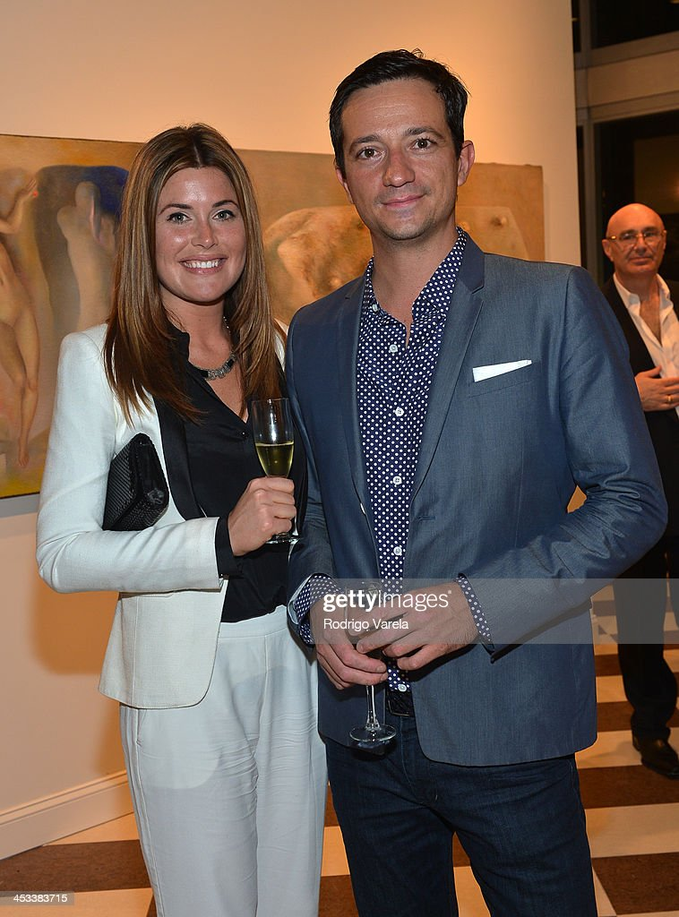 Alex McGarrity and Ciro Campagnoli attend the Roman Kriheli Un:veiled Exhibit At Avant Gallery, Featuring The Unveiling Of 'The Most Beautiful Woman In The World' Painting at Epic Hotel on December 3, 2013 in Miami, Florida.