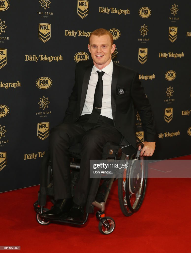 Alex McKinnon arrives ahead of the Dally M Awards at The Star on September 27, 2017 in Sydney, Australia.