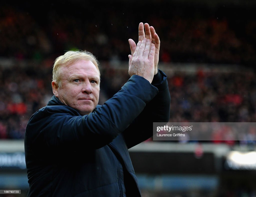 Alex McLeish of Nottingham Forest is presented to the fans prior to the npower Championship match between Nottingham Forest and Crystal Palace at City Ground on December 29, 2012 in Nottingham, England.