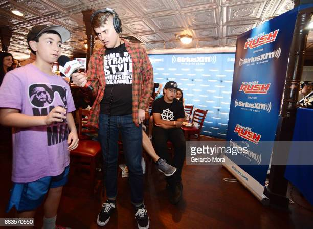 Alex Metz receives questions from the audience during the SiriusXM's Busted Open Live From WrestleMania 33 on April 1 2017 in Orlando City