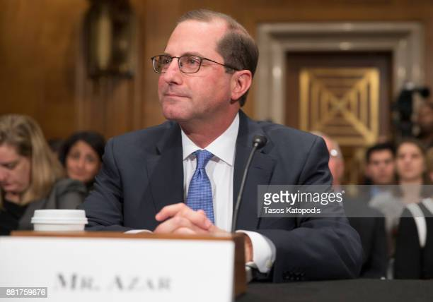 Alex Michael Azar II to be Health and Human Services Secretary attends full committee hearing on his nomination on Capital Hill on November 29 2017...