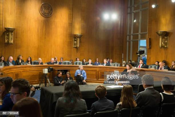 Alex Michael Azar II to be Health and Human Services Secretary attends full committee hearing on Capital Hill on November 29 2017 in Washington DC