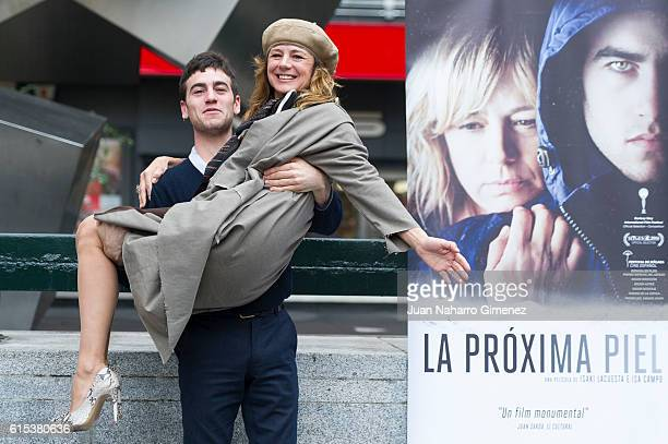 Alex Monner and Emma Suarez attend 'La Proxima Piel' photocall at Princesa Cinema on October 18 2016 in Madrid Spain
