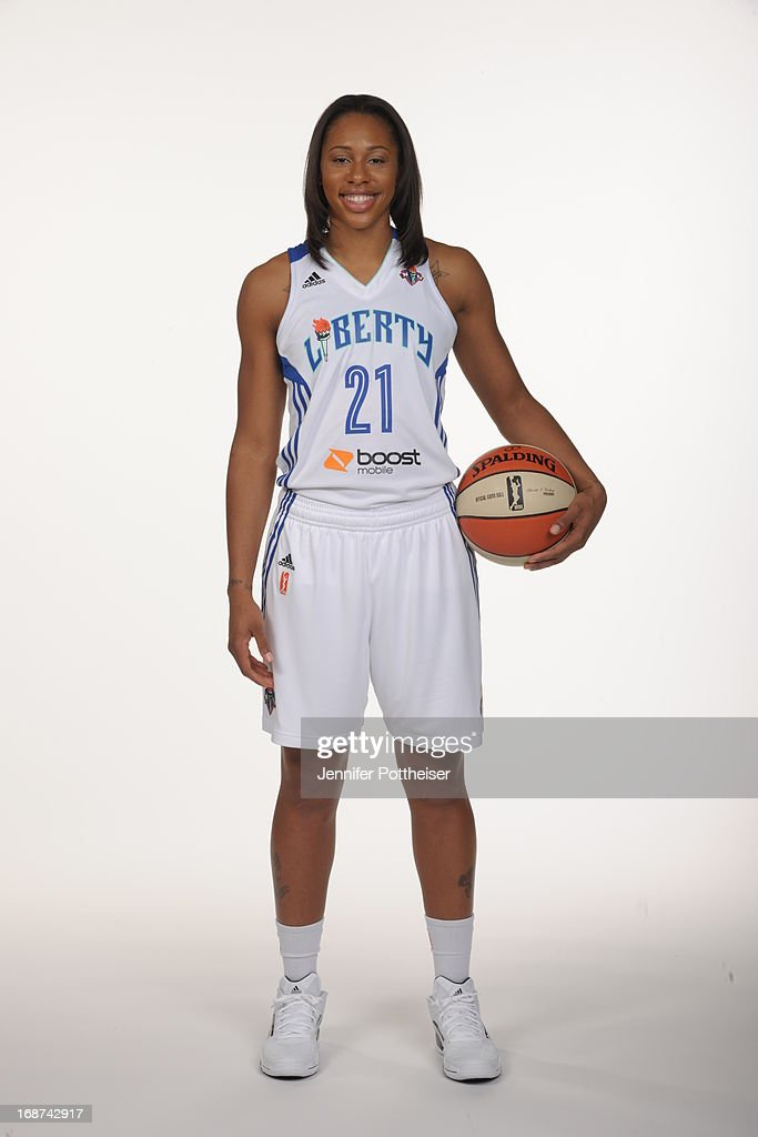 Alex Montgomery #21 of the New York Liberty poses for a photo during WNBA Media Day on May 13, 2013 at the Madison Square Garden Training Facility in Tarrytown, New York.