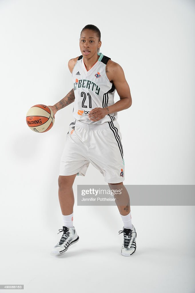 Alex Montgomery #21 of the New York Liberty poses for a portrait during 2014 WNBA Media Day at the MSG Training Facility on May 12, 2014 in Tarrytown, New York.