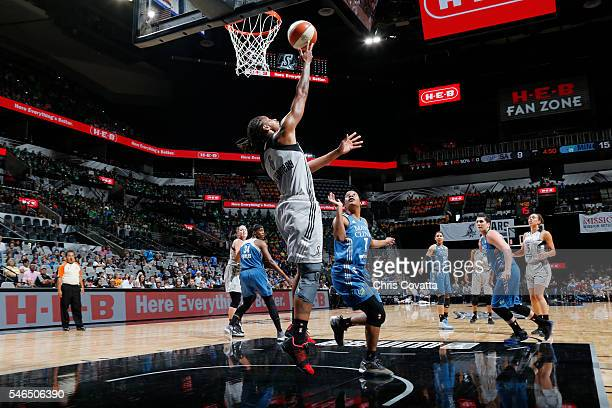 Alex Montgomery of the San Antonio Stars goes for a lay up against the Minnesota Lynx on July 12 2016 at ATT Center in San Antonio Texas NOTE TO USER...