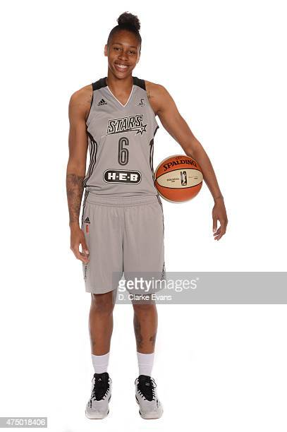 Alex Montgomery of the San Antonio Stars poses for a portrait during Media Day at the Freeman Coliseum on May 26 2015 in San Antonio Texas NOTE TO...