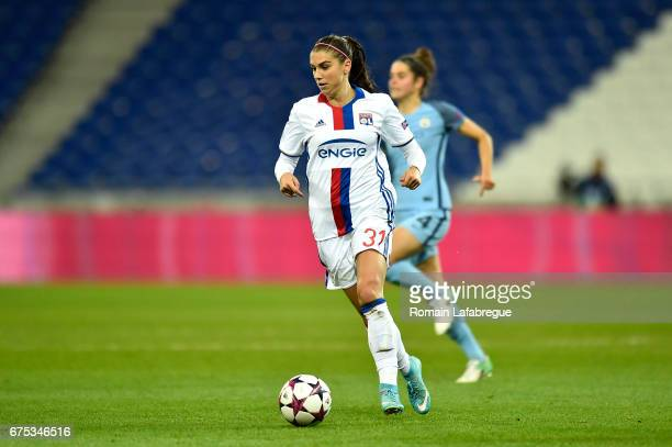 Alex Morgan of Lyon during the Women's Champions League match between Olympique Lyonnais and Manchester City at Stade Gerland on April 29 2017 in...