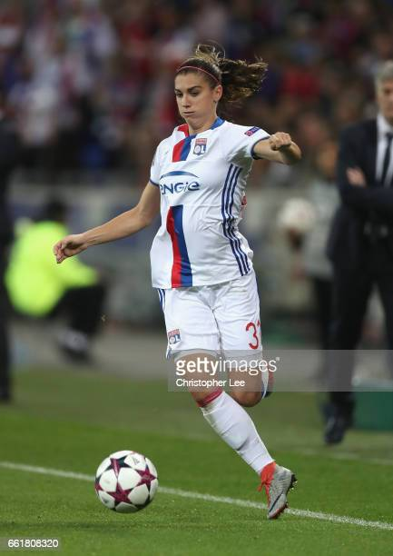 Alex Morgan of Olympique Lyon in action during the Women's Champions League match between Lyon and Wolfsburg at Stade de Lyon on March 29 2017 in...