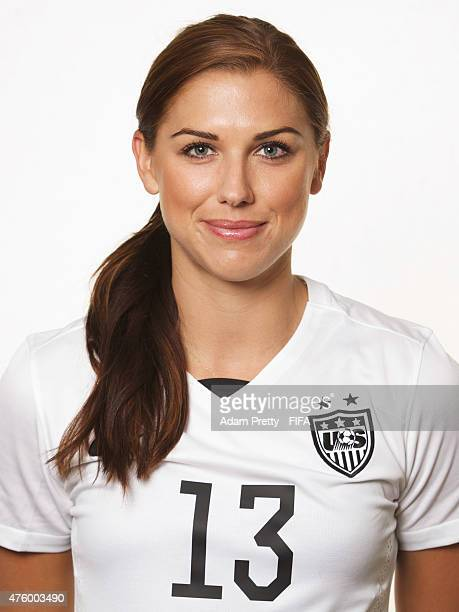 Alex Morgan of the USA poses for a portrait at the Delta Hotel on June 5 2015 in Winnipeg Canada